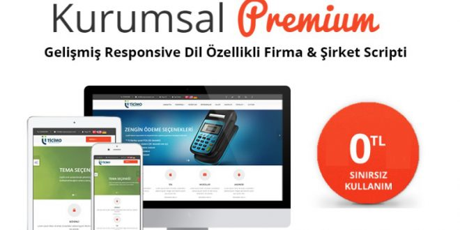 Ücretsiz Kurumsal Script | Ticimo Premium Kurumsal Site